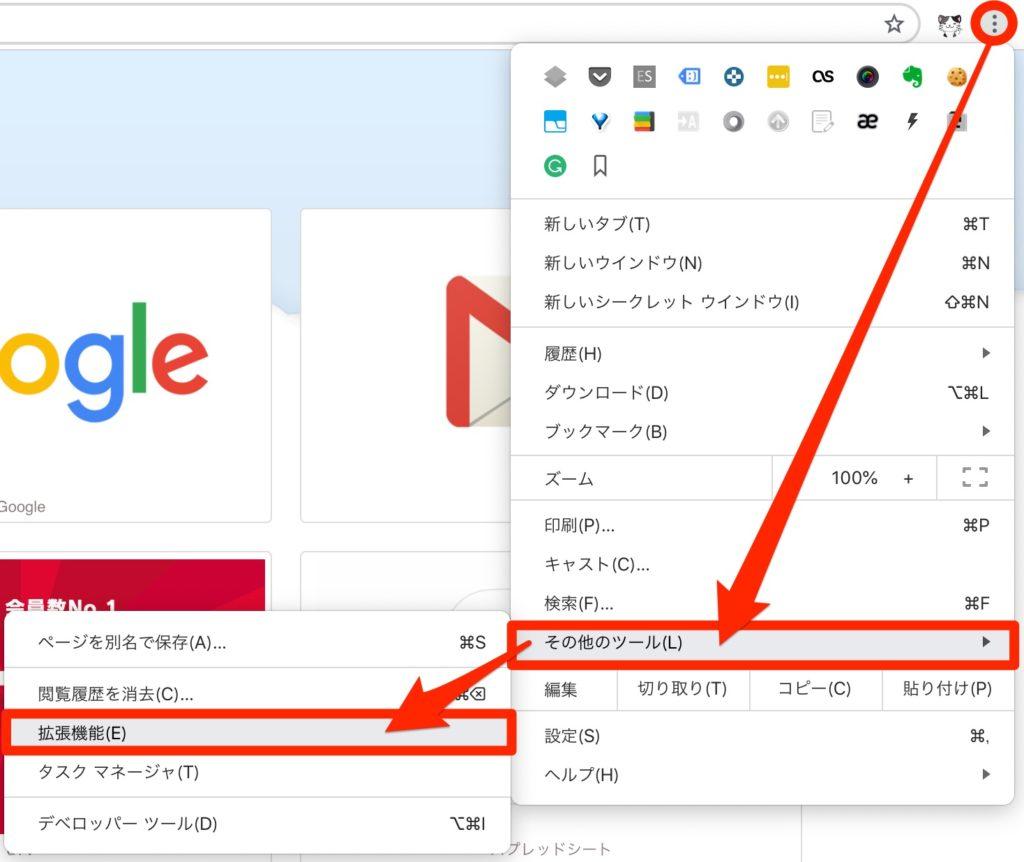 Chromeが重い時のための拡張機能見直しの仕方