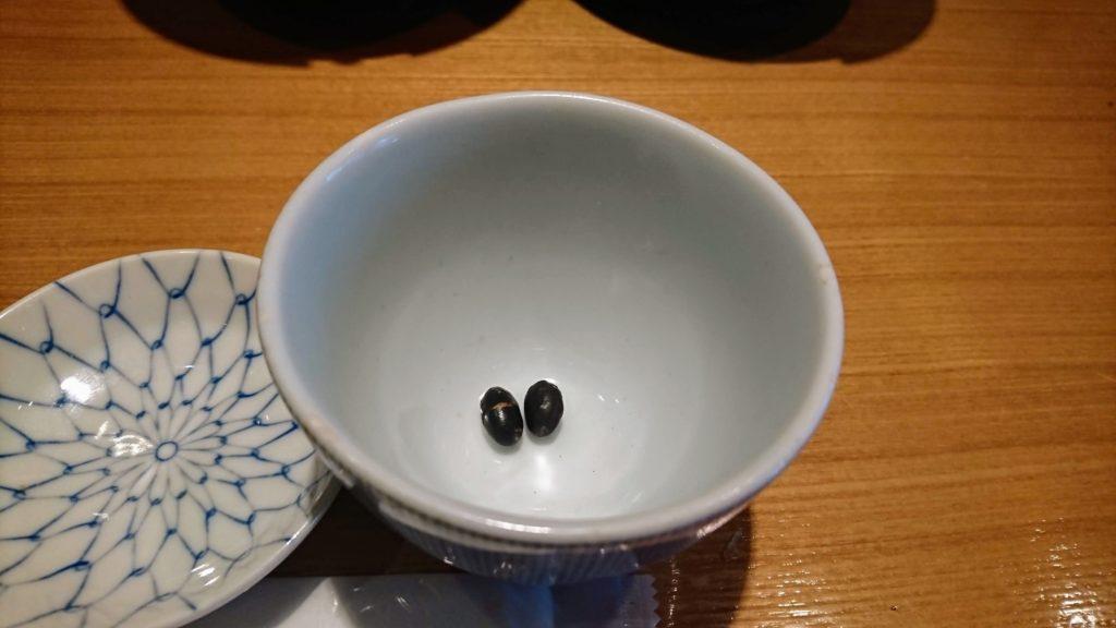 天丼 金子半之助 神田小川町店 黒豆茶