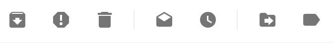 gmailの処理ボタン
