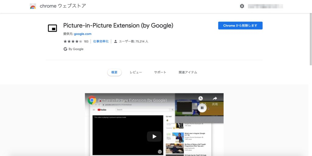 picture in picture extension by google