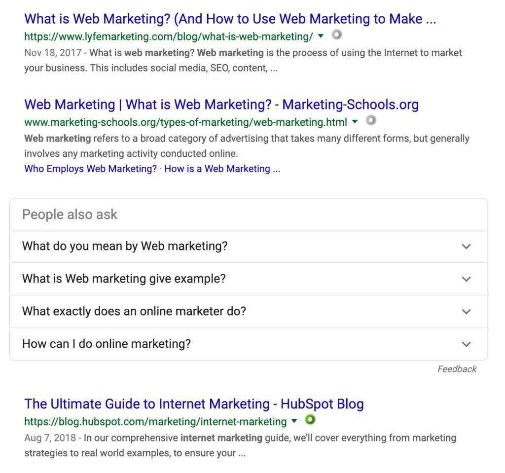 google アメリカ版 検索結果